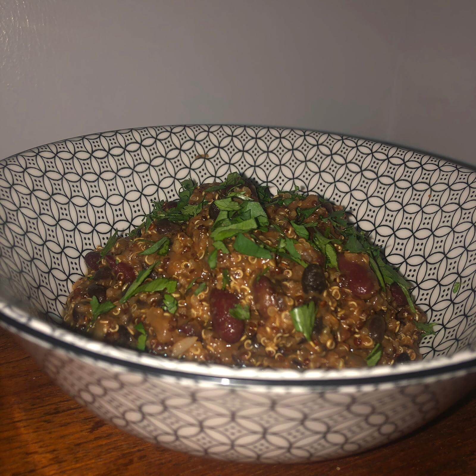 Black Bean and Quinoa Chilli