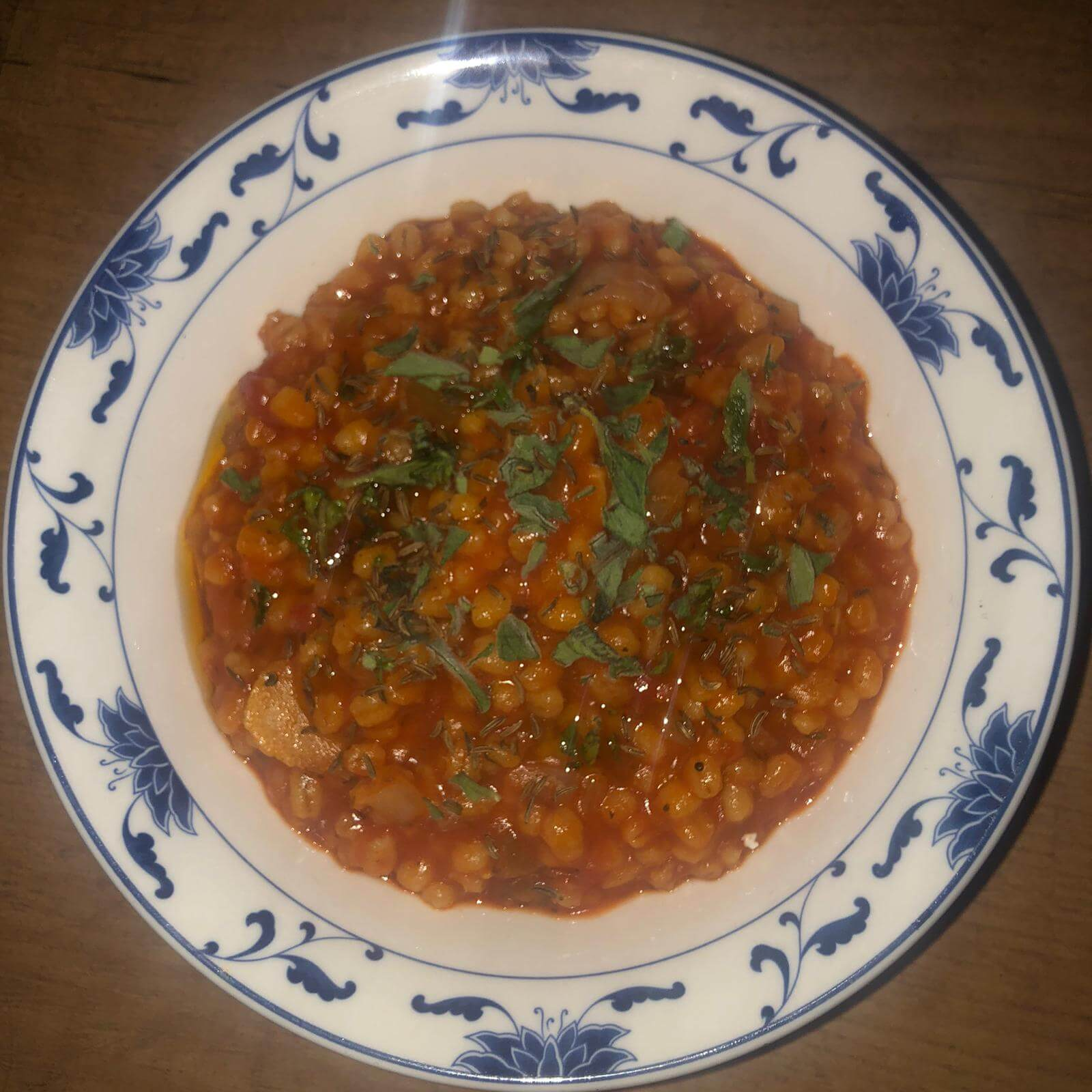 Pearl Barley and Tomato Risotto